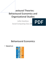 Economics and Behavioural Theories