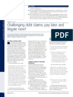 Challenging Debt Claims - Pay Later and Litigate Now