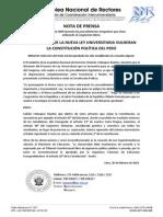 50 ARTICULOS DE LA NUEVA LEY UNIVERSITARIA VULNERAN  LA CONSTITUCIÓN POLÍTICA DEL PERÚ