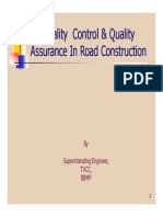 Quality Control & Quality Assurance in Road Construction