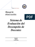 Spanish Version of Teacher Performance Evaluation Handbook
