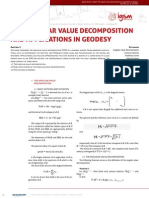 The Singular Value Decomposition and Applications in Geodesy