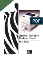 Zebra TLP 2844 DesktopPrinter User Guide