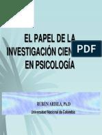 EL PAPEL DE LA INVESTIGACIÓN CIENTÍFICA EN PSICOLOGÍA.pdf