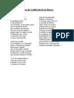 Verso de Calderon de La Barca