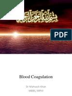 Blood Coagulation Dr Mahvash