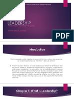 Leadership - Chapter 1 - What is Leadership?