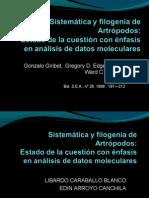 Sistemática y filogenia de Artrópodos