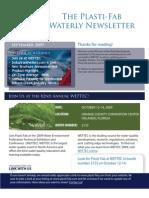 Plasti-Fab Sepctember 2009 Waterly Newsletter