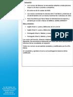 Información de los cursos 2014