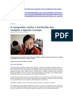 A campanha contra o herbicida que compôs o Agente Laranja