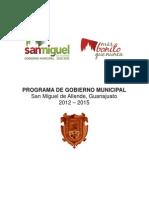 Programa de Gobierno Municipal SMA 2012-2015