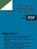 Biological Oceanography Presentation