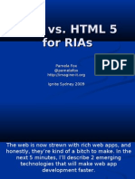 Flex vs HTML5