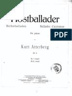 Atterberg - Hostballader Op. 15 n. 1
