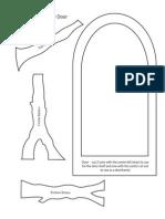 Template for a Fairy Door