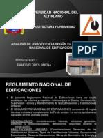 ANALISIS DE UNA VIVIENDA SEGÚN EL REGLAMENTO NACIONAL