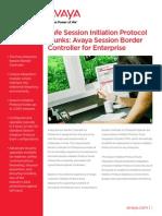 Avaya SBCE Overview Brochure[1]