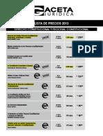 Lista de Precios NOV 2013