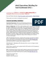 Briefing CTPE 2012