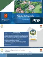 Presentación Especializacion en Gerencia Estrategica