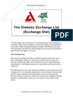 The Diabetic Exchange List