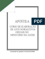 Apostila - Curso de Elaboracao de Atos Normativos Oficiais Do Ms