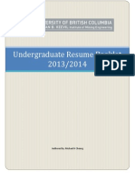 NBK Resume Booklet 2013 2014