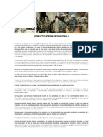 Acerca Del Conflicto Armado en Guatemala