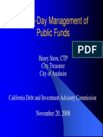 Day to Day Mangement of Public Funds