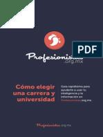 Como Elegir Carrera y Universidad
