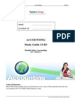 Double Entry Accounting 2014