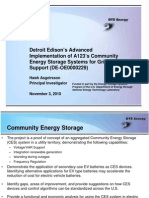 Detroit Editson's Advanced implementation of Community energy storage for grid support
