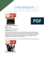 Kpop top 50 2013
