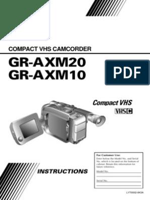 Manuel Instruction JVC Camcorder GR-AXM10 | Electrical