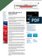 Star Business - Bond Market Improves on Better Sentiment - August 8, 2009
