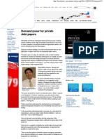 Star Business - Demand Poser for Private debt papers - September 28, 2009