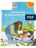Instructivo de Inclusion Educativa
