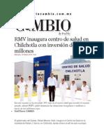 19-02-2014 Diario Matutino Cambio de Puebla - RMV inaugura centro de salud en Chilchotla con inversión de 8.8 millones.pdf