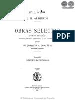 OBRAS SELECTAS - TOMO XV - JUAN BAUTISTA ALBERDI - PORTALGUARANI