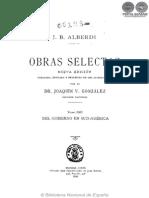 OBRAS SELECTAS - TOMO XIII - JUAN BAUTISTA ALBERDI - PORTALGUARANI