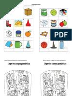 identificas los cuerpos geométricos que forman las figuras - copia