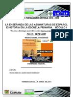 Formato-Productos-Curso-Taller- LA ENSEÑANZA DEL ESPAÑOL Y LA HISTORIA -2013-2014-Unitep053-Atp-Fjir-Lxb
