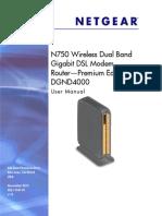 Netgear Wireless DSL Modem Router - DGND4000