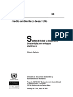 Sostenibilidad y Desarrollo Gallopin Gilberto