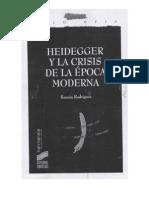 Heigegger y La Crisis de La Epoca Moderna Ramon Rodriguez