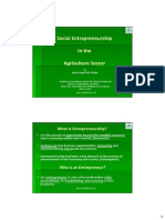 Social Entrepreneurship in the Agricultural Sector by Maria Angela Villalba