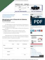 Metodologías para el Desarrollo de Sistemas de Información _ Desarrollo de Siste