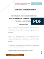 Especificaciones Técnicas obra