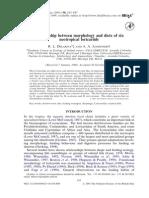 Morfologia e Dieta de Seis Loricarideos